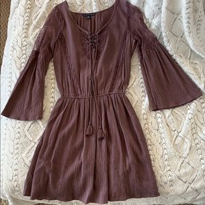 American Eagle Mulberry Dress Lace Details